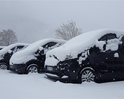 Winter has arrived in the Alps